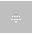 Solar energy computer symbol vector image