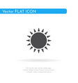 sun icon for web business finance and vector image vector image