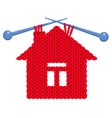 The house knitted vector image vector image
