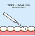 tooth scaling icon - row of tooth cleaning vector image vector image