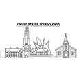 united states toledo ohio line skyline vector image vector image
