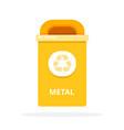 urban trash bin for metal waste flat isolated vector image vector image