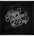 Valentines Day Chalk Vintage Lettering Background vector image