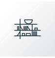 wall shelf icon line symbol premium quality vector image