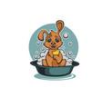 wash your pet funny cartoon badog taking a bath vector image