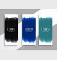 watercolors banners set in different colors vector image vector image