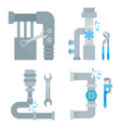 website banners plumbing services vector image