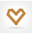 Wooden Boards Heart Shape vector image vector image
