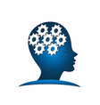 working head brain inspiration vector image