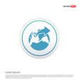 world globe icon - white circle button vector image vector image