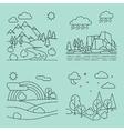 Nature outline landscapes vector image