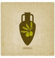 amphora with olive oil vector image