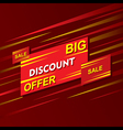 big discount offer banner design vector image
