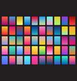 50 set off color gradients backgrounds vector image