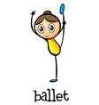 A female ballet dancer vector image vector image