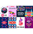 abstract artwork posters set vector image vector image