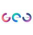 abstract colorful circle logo company identity vector image
