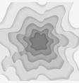 abstract wavy square gray paper cut background vector image vector image
