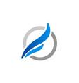 abstract wing loop company logo vector image vector image