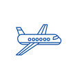 airplaneplane line icon concept airplaneplane vector image vector image