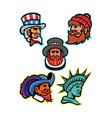 american and british mascots collection vector image vector image