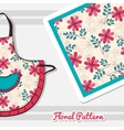 Apron With Doodle Flowers vector image vector image