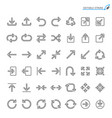 arrow line icons editable stroke