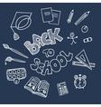 Back to school supplies doodles vector image vector image