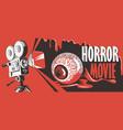 banner for horror movie festival scary cinema vector image