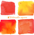 Beautiful watercolor square elements vector image vector image