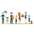birthday party for kids playings holiday gifts vector image