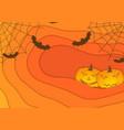 bright orange autumn halloween corporate vector image