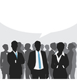 Business meeting with speech bubble vector image vector image