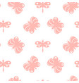 butterfly pink pastel baby seamless pattern vector image