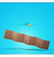cardboard banner vector image vector image
