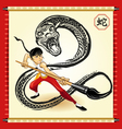 chinese snake new year vector image vector image