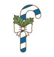 christmas cane decorative icon vector image vector image