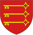coat arms french city avignon vector image