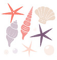 collection of marine isolated design elements vector image vector image