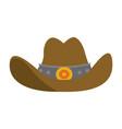cowboy hat symbol vector image