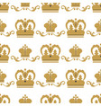 crown king vintage premium seamless pattern vector image vector image