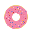 donut icon vector image