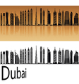 Dubai V2 skyline in orange vector image vector image