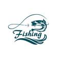 fishing sport emblem vector image