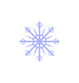 flat blue snowflake icon vector image vector image
