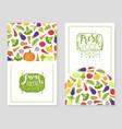 fresh summer vegan menu card templates set vector image vector image