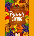 friendsgiving day holiday dinner party vector image vector image