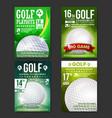 golf poster set design for sport bar vector image vector image