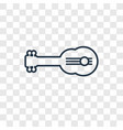 guitar concept linear icon isolated on vector image