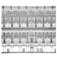 hand drawing facade vector image
